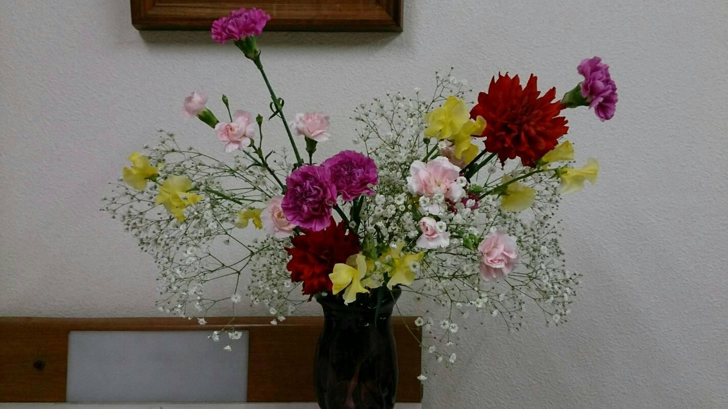 診察室の花